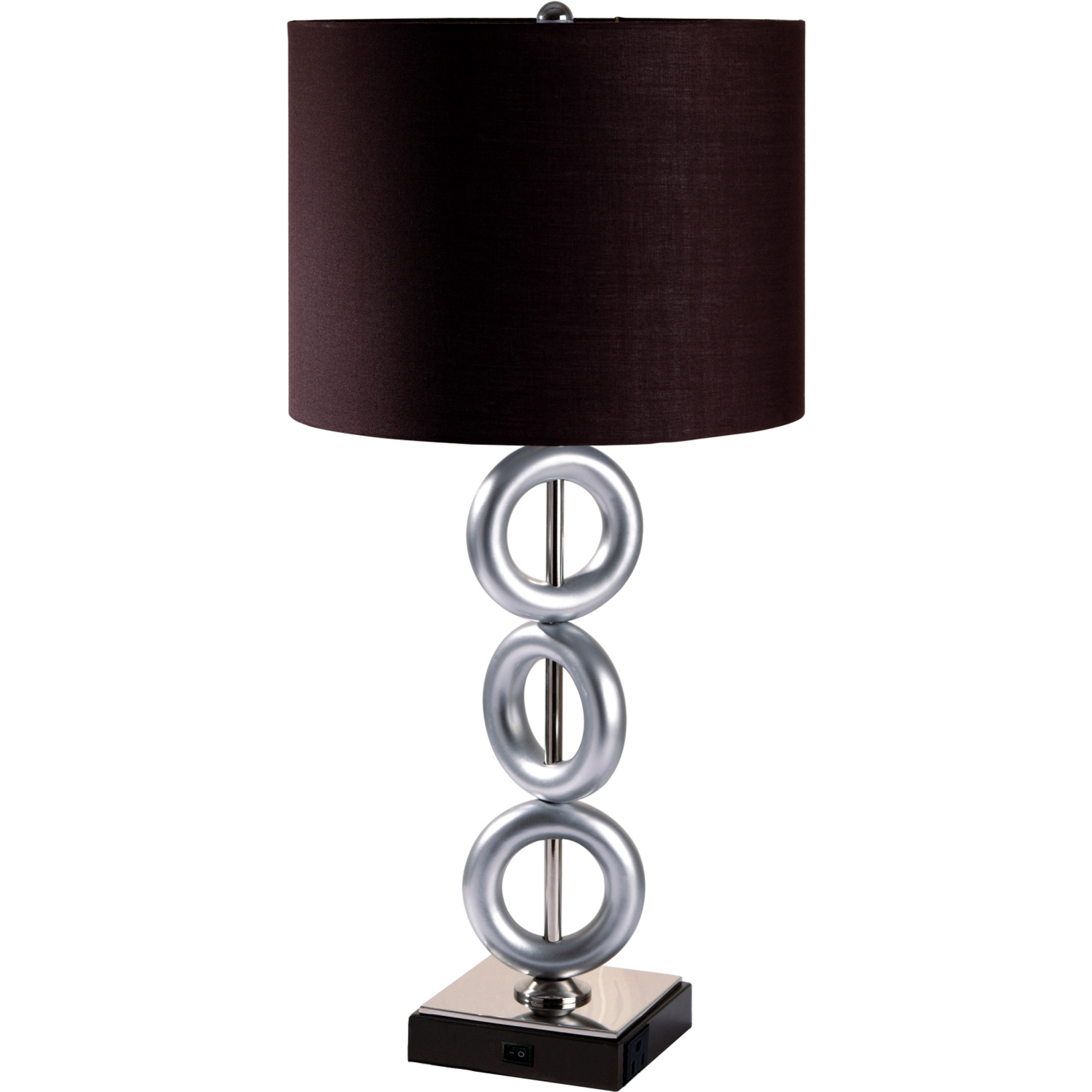 29 Tall Metal Table Lamp With Finish Ring Style Round Shade Ebay