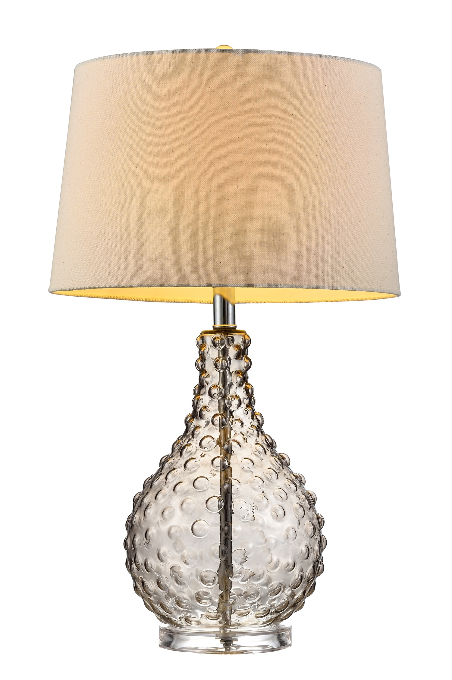 27 Tall Glass Table Lamp Castlerock With Clear Glass Finish