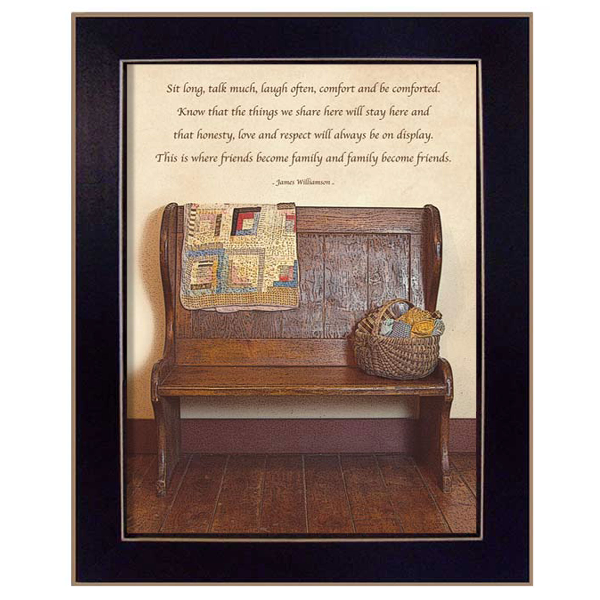 Friends Become Family  by Susan Boyer Printed Framed Wall Art