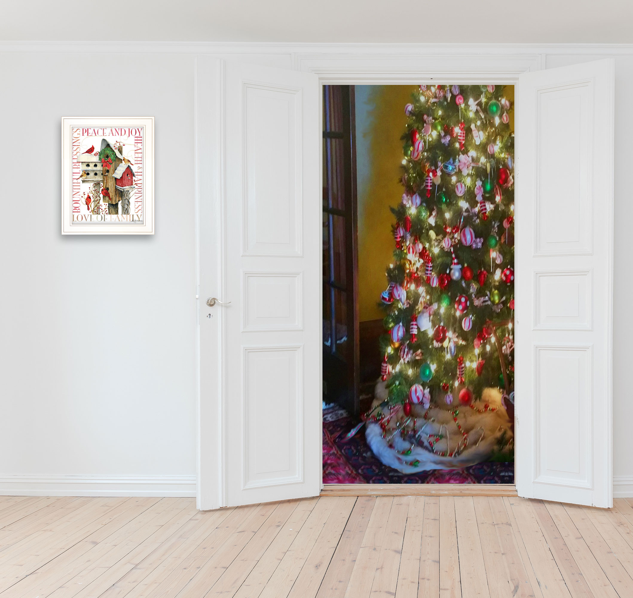 Winter Housing (Christmas) by Barb Tourtillotte, Ready to Hang Framed Print, ...