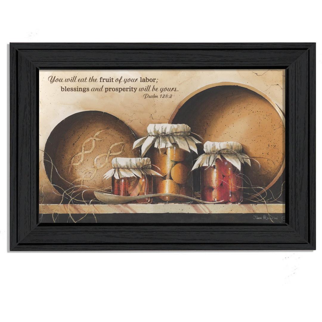 ''Blessings & Prosperity  by John Rossini Printed Framed Wall Art