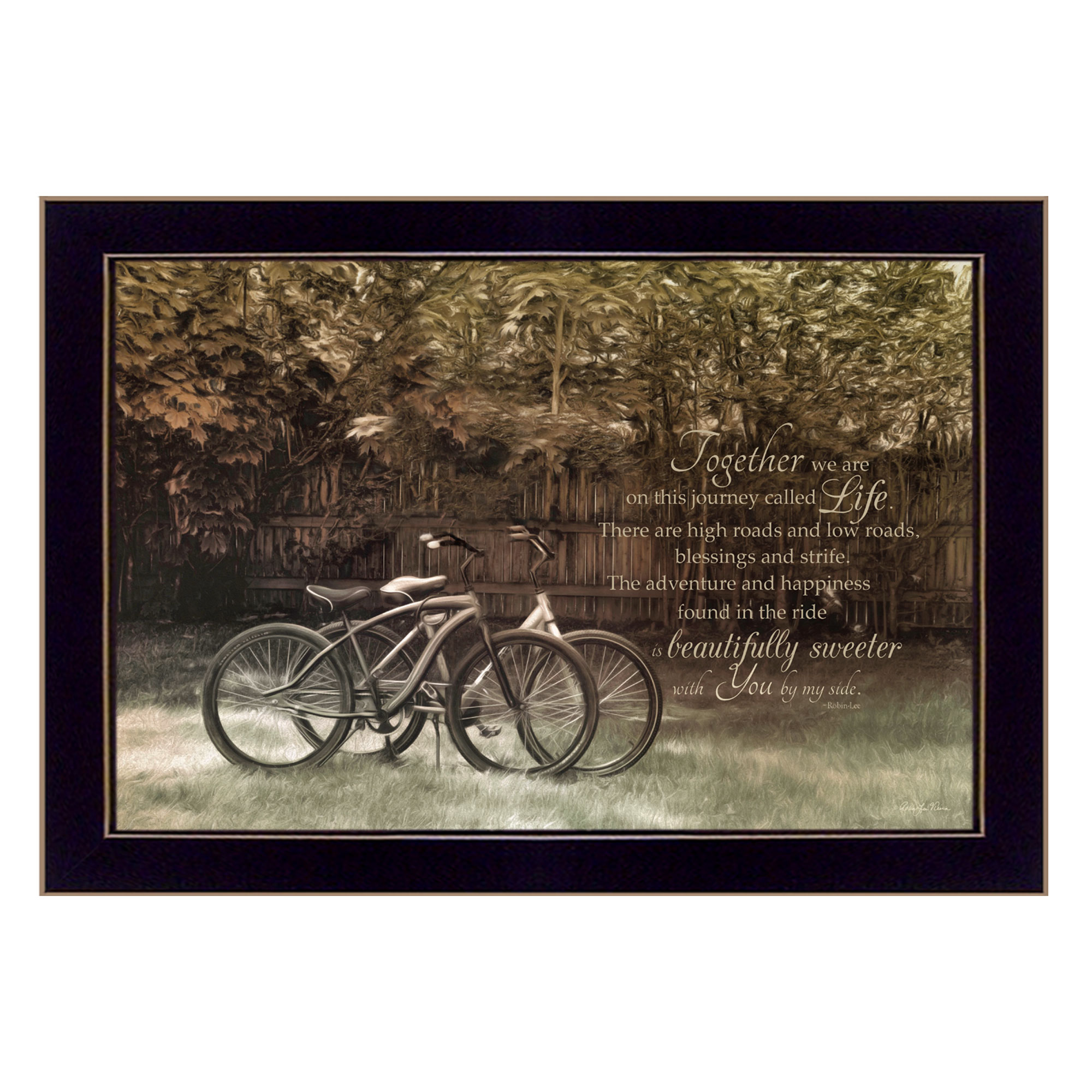 Journey Together  by Robin Vieira Printed Framed Wall Art