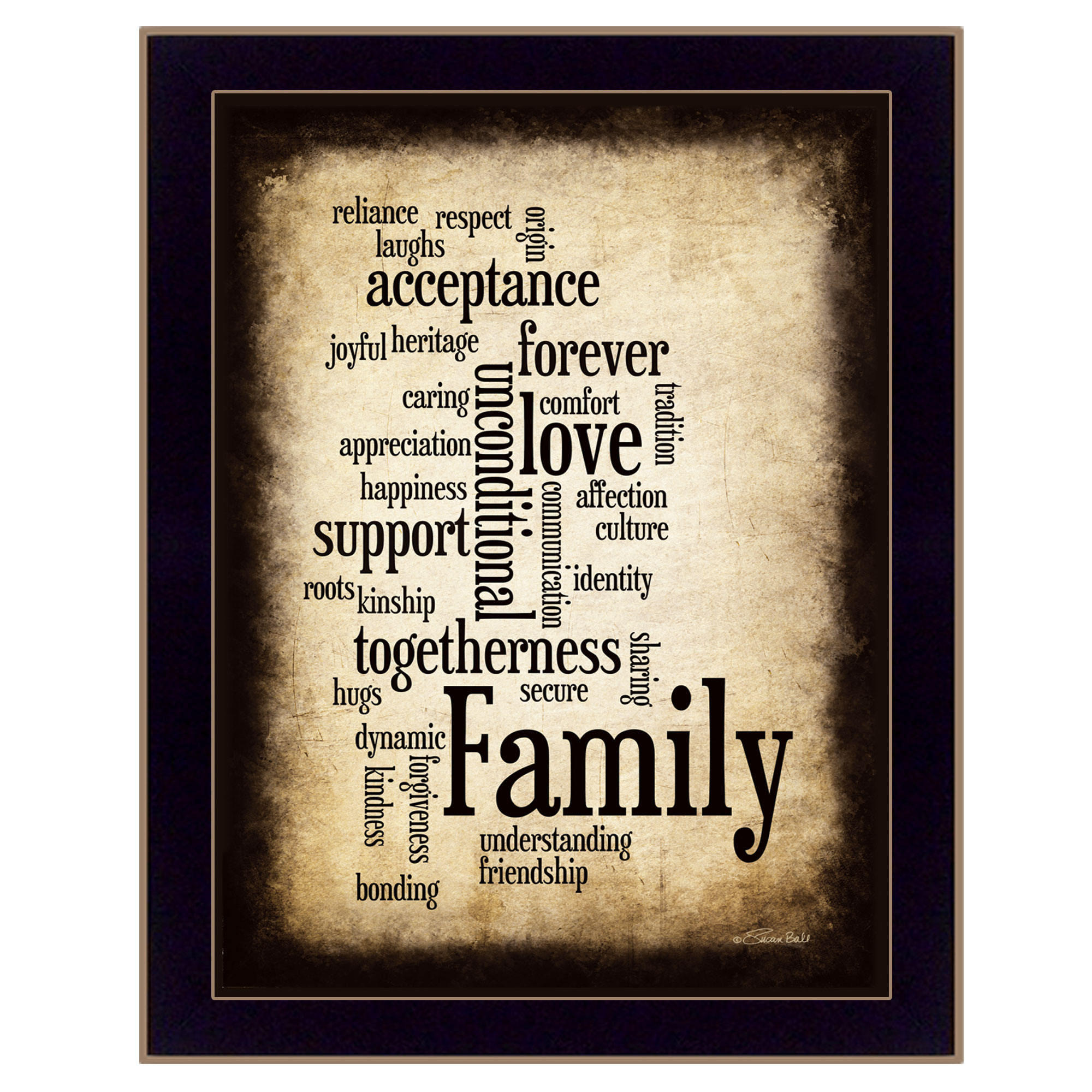 Family  by Susan Boyle Printed Framed Wall Art