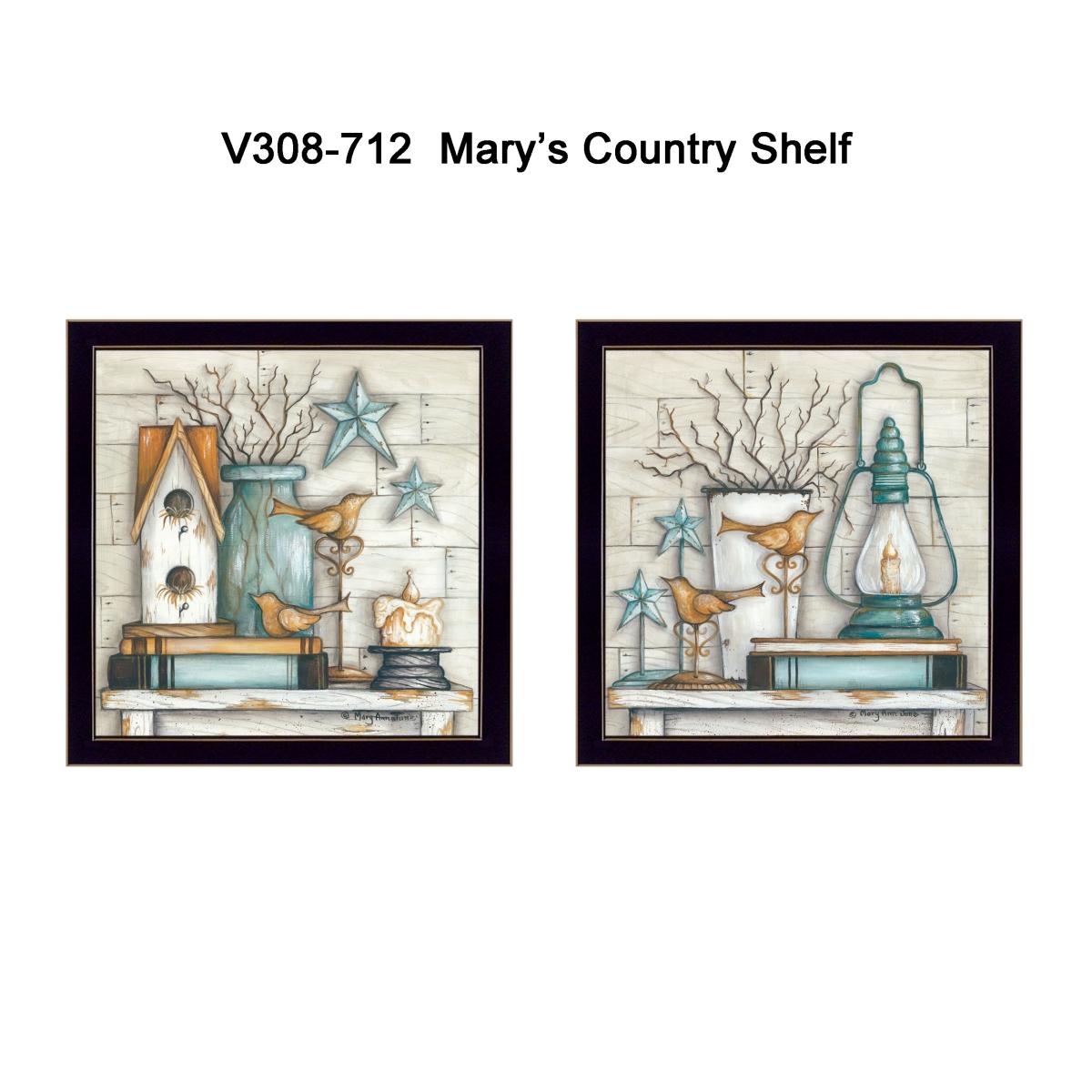 MARY Country Shelf  par Mary June Imprimé Encadrée Wall Art